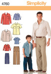 S M L/S M L XL - Simplicity Boys' And Men's Pants And Shi