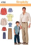 S M L/S M L XL - Simplicity Boys' And Men's Pants And Shi