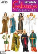 XS,S,M,L,XL - Simplicity Misses,men Or Teen Nativity Costumes