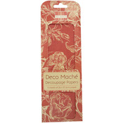 "Rose Garden, Red Roses - Deco Mache Paper 10.25""X14.75"" 3/Pkg"