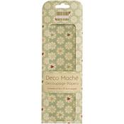 """J'adore, Daisies - Deco Mache Paper 10.25""""X14.75"""" 3/Pkg"""