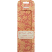 "Boho Chic, Orange Flowers - Deco Mache Paper 10.25""X14.75"" 3/Pkg"