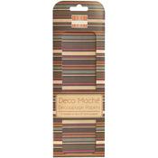 "Desert Bloom, Multi Stripe - Deco Mache Paper 10.25""X14.75"" 3/Pkg"