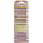 "New Bloom, Purple Stripe - Deco Mache Paper 10.25""X14.75"" 3/Pkg"