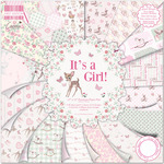 """It's A Girl - First Edition Premium Paper Pad 12""""X12"""" 48/Pkg"""