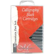 Black - Manuscript Fountain Pen Ink Calligraphy Cartridges 30/Pkg