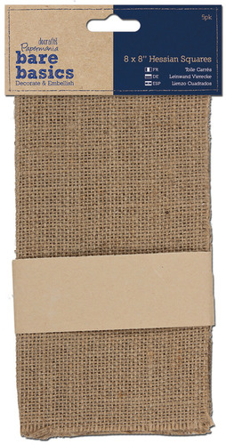 """Paper Crafts > Paper > Papermania Bare Basics Hessian Squares 8""""X8"""" 5/Pkg-: A Cherry On Top"""