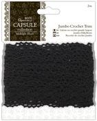 "Papermania Midnight Blush Jumbo Crochet Trim 1.5""X2m-"