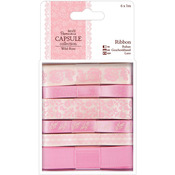 Papermania Wild Rose Ribbon 6/Pkg