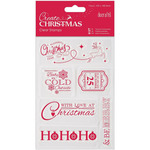 """Christmas Sentiments - Papermania Create Christmas Mini Clear Stamps 4""""X6"""""""