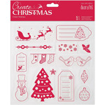 Merry Christmas - Papermania Create Christmas Clear Stamps