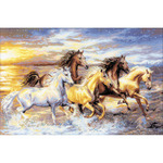 """23.625""""X15.75"""" 14 Count - In The Sunset Counted Cross Stitch Kit"""