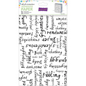 "Whipple-Scrumptious Black Alpha Words - Roald Dahl Adhesive Paper 24""X18"""