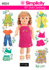 ONE SIZE - Simplicity 18 Doll Clothes SIMPLICITY-18 inch Doll Clothes