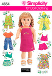 ONE SIZE - Simplicity 18 Doll Clothes