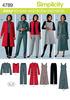 10 12 14 16 18 - Simplicity Misses'/Women's Pants, Vest A