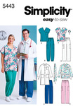 S,M,L - Simplicity Women's And Men's Scrub Top,