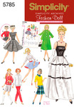 ONE SIZE - SIMPLICITY 11 1/2 FASHION DOLL CLOTHES
