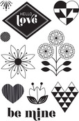 Hello Love Clear Stamps - Basic Grey