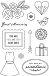 Good Memories Clear Stamps - J'Adore - Basic Grey