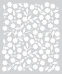 Floral Vines Stencil - Basic Grey