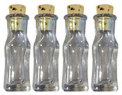 Small Rectangle Clear Glass Bottles - Art C