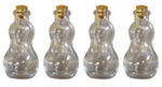 Snowman Clear Glass Small Bottles