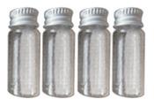 Small Clear Screw Top Glass Bottles - Art C