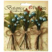Teal Sugared Berry Clusters - Botanica - Petaloo