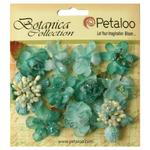 Teal Sugared Mini Blooms - Botanica - Petaloo