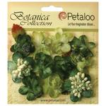 Pine Green Sugared Mini Blooms - Botanica - Petaloo