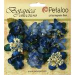 Royal Blue Sugared Mini Blooms - Botanica - Petaloo