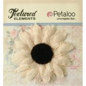 Ivory Medium Burlap Sunflower - Textured Elements - Petaloo
