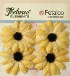 Yellow Small Burlap Sunflowers - Textured Elements - Petaloo