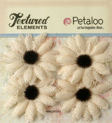 Ivory Small Burlap Sunflowers - Textured Elements - Petaloo