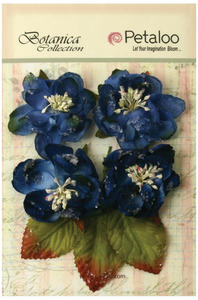 petaloo royal blue sugared blooms botanica