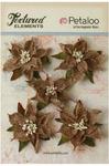 Natural Burlap Poinsettias - Textured Elements - Petaloo