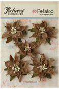 Natural Burlap Poinsettias - Textured Elements - Petaloo