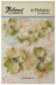Ivory Jeweled Flowers - Textured Elements - Petaloo