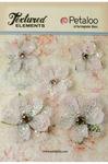 White Jeweled Flowers - Textured Elements - Petaloo