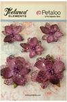 Lavender Jeweled Flowers - Textured Elements - Petaloo