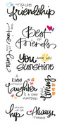 Friend Clear Big Script Stickers