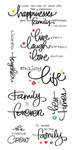 Family Clear Big Script Stickers