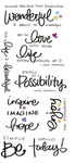 Inspire Clear Big Script Stickers
