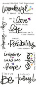 Inspire Clear Big Script Stickers