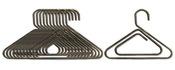 Mini Metal Silver Clothes Hangers - Art C