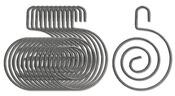 Antique Silver Metal Swirl Hangers - Art C