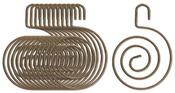 Antique Brass Metal Swirl Hangers - Art C