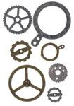 Mini Metal Industrial Gears - Art C
