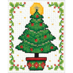 "2""X3"" - Christmas Tree Ornament Counted Cross Stitch Kit"